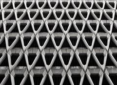 Buzz Kill (Douguerreotype) Tags: city uk england urban blackandwhite bw abstract london geometric monochrome architecture buildings concrete mono britain geometry symmetry gb british urbex