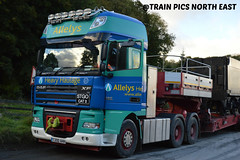 ALLELYS DAF XF AT NEWBRIDGE (TRAIN PICS NORTH EAST) Tags: allelys