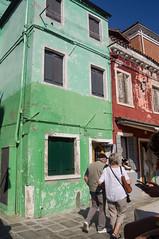 Green House - Burano (UrbanphotoZ) Tags: venice red italy house green couple peeling cellphone worn shutters weathered nailpolish venezia conduit burano veneto 331