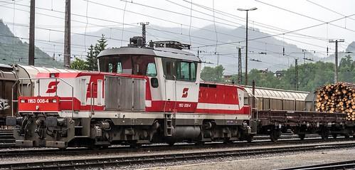 24.05.2006 Österreich Spittal an der Drau ÖBB 1163 008 mit Rangierzug