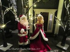 Gothic Mansion at Christmas (Pumpkin Hill Studios/King William Miniatures) Tags: christmas ken barbie diorama 16scale miniaturesetbuilding