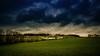 Herbstlandschaft in Oberösterreich (Ralph Punkenhofer) Tags: blue autumn trees sky clouds dark landscape felder wiesen dramatic wolken landschaft wald bäume himmerl herbstlich dramatischer herbstliche dunkelblaue