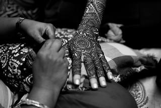 Henna (mehendi) for the bride