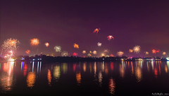 Festival of Lights - Diwali (Kuntal Gupta) Tags: sky west festival ferry night river lights fireworks bank diwali kolkata bengal deepawali ghat tola mahotsav panihati mohotsav