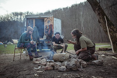 A trip to Red River Gorge (gianteyephotography) Tags: camping red wild truck river fire sticks cabin woods kentucky smoke cook gorge knives wilderness dreads camper