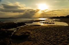 A beautiful day at Lagonisi beach (kutruvis nick) Tags: sunset sea sky sun sunlight seascape reflection beach water clouds landscape greek sand nikon rocks hellas greece nik attiki lagonisi d5100 kutruvis