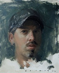 Self-portrait, c. 2011 // by Casey Childs (mike catalonian) Tags: portrait male face painting 2011 xxicentury 2010s caseychilds