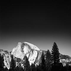 Yosemite half dome (-Alberto_) Tags: monochrome mediumformat landscape 120film yosemite kodaktmax100 hasselblad500cm