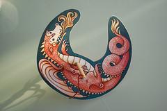 _dragone rotante-legno,carta&corda