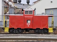 New Castle, Pennsylvania (1 of 2) (Bob McGilvray Jr.) Tags: railroad red train private newcastle pennsylvania steel 14 tracks caboose pa cupola active rm baywindow ncir newcastleindustrialrailroad reservemining