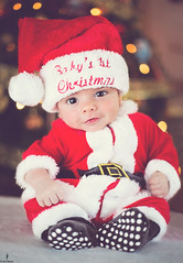 Merry Christmas (Aaron Baglietto) Tags: christmas family boy baby tree cute canon eos costume outfit ryan newborn 5d merry gibraltar 2470mm markiii 28is aaronbaglietto