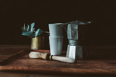 Still life (Jonas Tana) Tags: stilllife coffee brewing canon still 85mm naturallight eucalyptus hss canon85mm vsco vscofilm