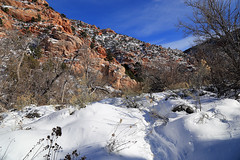 Entrance to Spring Creek Canyon (Bob Palin) Tags: winter 15fav usa snow cold southwest canon landscape utah december outdoor hiking hike ironcounty 100vistas instantfave canonef24105mmf4lisusm springcreekcanyon kanarraville orig:file=2015122804162