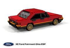 Ford XE Fairmont Ghia ESP 351 V8 (1982) (lego911) Tags: ford falcon xe fairmont 1982 1980s ghia esp 351 v8 auto car moc model miniland lego lego911 ldd render cad povray australia aussie xd lugnuts challenge 107 saturdaymorningshownshine saturday morning show n shine sedan saloon