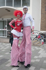 October 12th 2016 - Project 366 (Richard Amor Allan) Tags: stilts tall stiltwalkers red high people campus celebration allstokedup project366