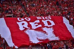 GO BIG RED (stevelamb007) Tags: gobigred sign studentsection nebraska huskers cornhuskers football memorialstadium stevelamb nikon d7200 nikkor18200mm