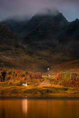First Light (devlin11) Tags: loch slapin house scotland skye isleofskye scenery sunrise seaside exposure reflection tranquil trees autumn beautiful nikon morning mountains magic mist isle cuillin hills water