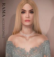 RAMA - Two of a Kind Crystal Necklace (Faullon / RAMA) Tags: rama secondlife selfierama faullon accessorie necklace mesh shop shinyshabby