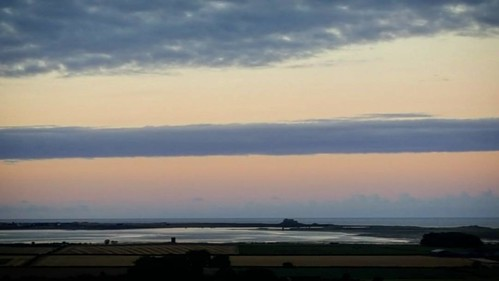 Holy Island from the Old A1 at Detchant