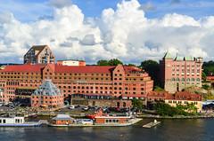 Arriving in Gteborg by ferry (jbdodane) Tags: alamy161016 city cycletouring cyclotourisme europe freewheelycom goteborg sweden jbcyclingnordkapp alamy