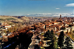 Segovia, Spain. (Infinity & Beyond Photography) Tags: segovia spain city view cityscape landscape guadarrama snowcovered mountains
