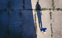 Long Day Coming to an End (marcin baran) Tags: top topview man person walk walking view pov perspective human element shadow shadows long shadowplay sun sunny sunshine blue lines gliwice poland polska street streetphotography streetphoto urban fuji fujifilm fujix100 x100 x100t color colour