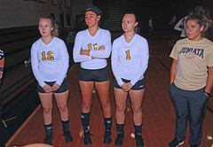 IMG_3471 (SJH Foto) Tags: girls volleyball high school lancaster mennonite elco eastern lebanon team tween teen east teenager varsity tamron 1024mm f3545 superwide lens pregame ceremonies ref referee captains coin toss