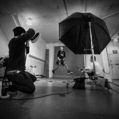 Walking in the air (Robban.W) Tags: nikon d800 2470 nikkor studio ny newyork us usa manhattan soho unbrella black white bw reinesaliba photograph fotograf