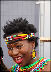Portrait 3 (Mabacam) Tags: 2016 london trafalgarsquare africaonthesquare blackhistorymonth cultural multicultural community celebration people dancers singers woman beads traditional beadwork portraits ethnic
