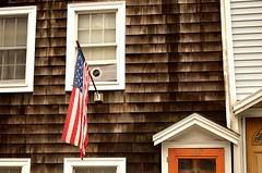 Wall (Daniel.Lgnes) Tags: boston usa us unitedstates northend houses casas maison wall pared bandera flag window ventana door puerta