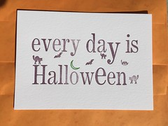 October 2016 print of the month (artnoose) Tags: october moon bats bat cats cat green purple orange goth ministry paper lettra patreon etsy club month print letterpress halloween