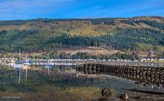 Holy Loch Marina (MC Snapper78) Tags: scotland nikond3300 landscape scenery scenic firthofclyde holyloch sandbank dunoon argyllandbute boats yachts pier reflections reflecting reflection marilynconnor