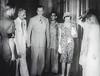 Jinnah and Mountbattens at the banquet (Doc Kazi) Tags: pakistan india independence negotiations ceremonies jinnah gandhi nehru mountbatten viceroy wavell stafford cripps edwina fatima muhammad ali