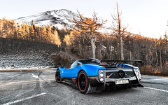 Mountain Climber. (Alex Penfold) Tags: pagani zonda cinque roadster blue supercars supercar super car cars autos alex penfold 2016 raduno touge run