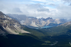 Looking up the Bow Valley towards Bow Lake (*Andrea B) Tags: andromache mount mountain july 2016 ice fields icefieldsparkway hector noseeum banffnationalpark scramble scrambling summer summer2016 alberta rockies canadianrockies canada hike hiking july2016
