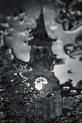 Distorted religious view, Killarney (Sean Hartwell Photography) Tags: killarney kerry countykerry church reflection puddle water cathedral catholic religion religious ireland distortion