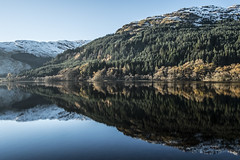 Frosty Morning at Loch Eck - Nov 2016 (GOR44Photographic@Gmail.com) Tags: loch eck xpro1 xf18mmf2 fujifilm scotland water reflection argyll bute cowal trees cloud gor44 snow hills