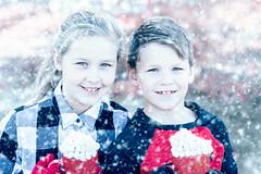 Charlotte and Brennan (CarinaMcKee) Tags: siblings hot chocolate girl boy cups mashmallows