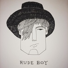 Rude Boy #doodlersanonymous #sketch #drawing #doodle (marcusmelton) Tags: square squareformat lark iphoneography instagramapp uploaded:by=instagram