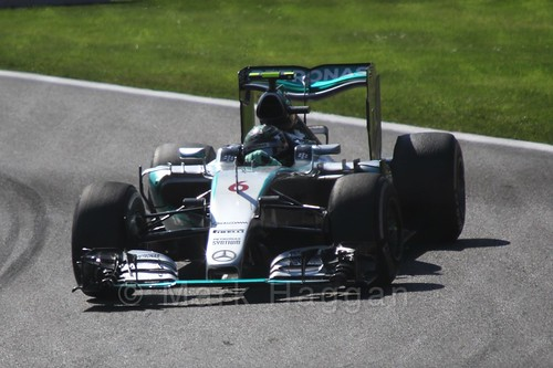 Nico Rosberg in Free Practice 3 for the 2015 Belgium Grand Prix