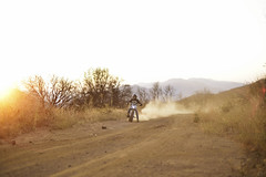 Wayne from ODFU (Garrett Meyers) Tags: california road sunset mountains colors vintage honda fun outdoors cafe wayne lifestyle motorbike dirt motorcycle backlit dust northern tracker sideways racer bobber garrettmeyers reddingphotographer onedownfourup xl250vii