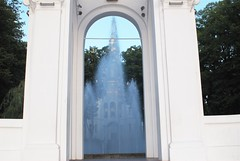 Ghost (melleus) Tags: autumn summer church water fountain arch ghost ukraine d200 kharkiv imagemagick dcraw gmic