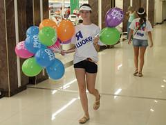 Promo girl (sheska_) Tags: girls balloons