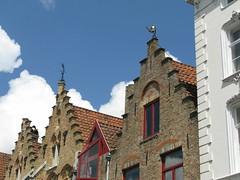 Bruges seen from the boat (FleurFlower) Tags: water belgium brugge gevels belgi canals boating bruges okra fronts scenicspots leien clubforretirees verenigingvoorgepensioneerden stairfacades