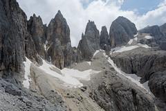 Centralnie Passo Farangole, widok z przełęczy Margherita