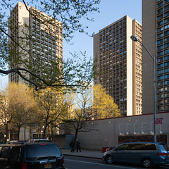 NYC - university village 1 (Doctor Casino) Tags: architecture concrete towers modernism architect nyu housing residential squarecrop brutalism greenwichvillage newyorkuniversity brisesoleil universityvillage ieohmingpei silvertowers jamesingofreed 19601967 impeipartners towersinapark bldgtext