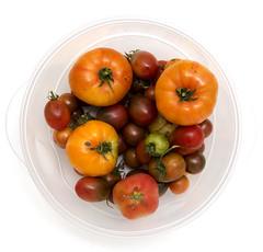 Havest Bowl (Lisa-S) Tags: autumn red orange ontario canada fall vegetables circle lisas tomatoes harvest bowl round onwhite bounty brampton 2357