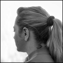 Girl with a pony tail (Reinardina) Tags: portrait girl candid ponytail southampton contrejour