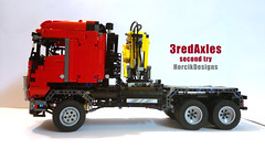 3 Axle truck 2 (Horcik Designs) Tags: red truck lego technic moc arocs