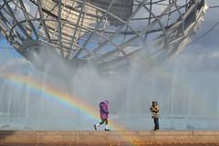 No Pot in Sight (KaDeWeGirl) Tags: park new york city newyorkcity fountain rainbow meadow landmarks queens corona commission unisphere preservation flushing